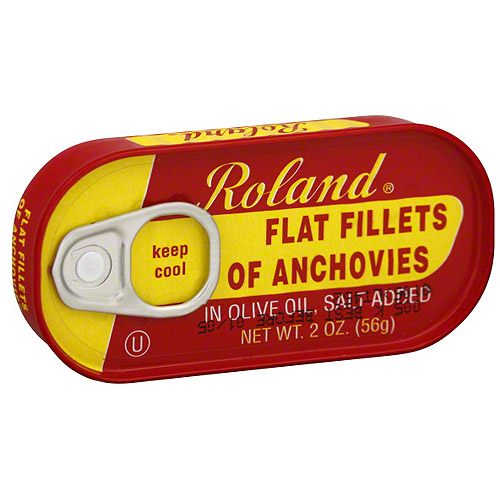 Roland Flat Anchovy Fillets, 2 oz  (Pack of 25)