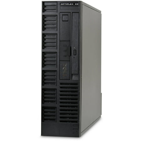 Refurbished Dell OptiPlex XE-SFF Desktop PC with Intel Dual-Core Processor, 4GB Memory, 250GB Hard Drive and Windows 10 Pro (Monitor Not Included)