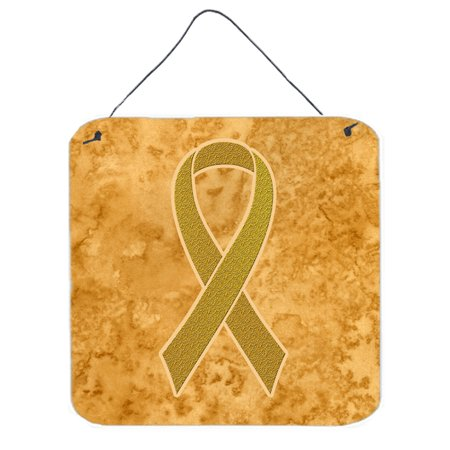 Gold Ribbon for Childhood Cancers Awareness Wall or Door Hanging Prints AN1209DS66