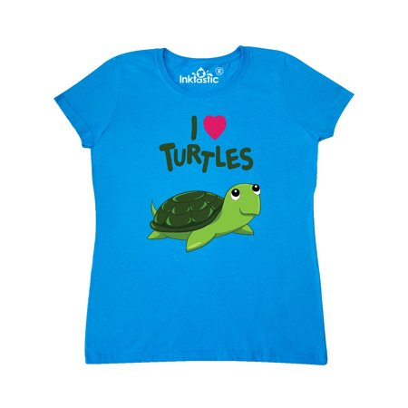 Sapphire Turtle - I Love Turtles Women's T-Shirt