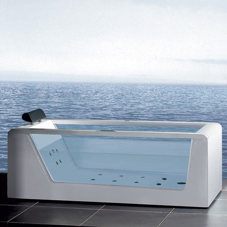 ariel bath platinum 59'' x 25.6'' whirlpool bathtub - walmart