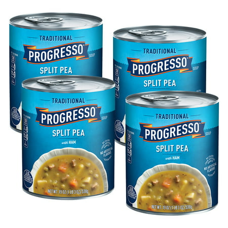 (4 Pack) Progresso Traditional Split Pea With Ham Soup, 19