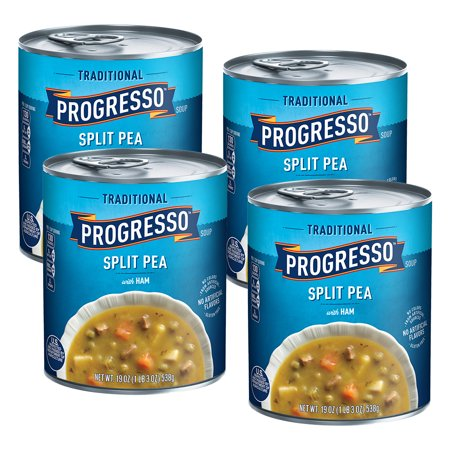 Canned Pea Soup - (4 Pack) Progresso Traditional Split Pea With Ham Soup, 19 oz