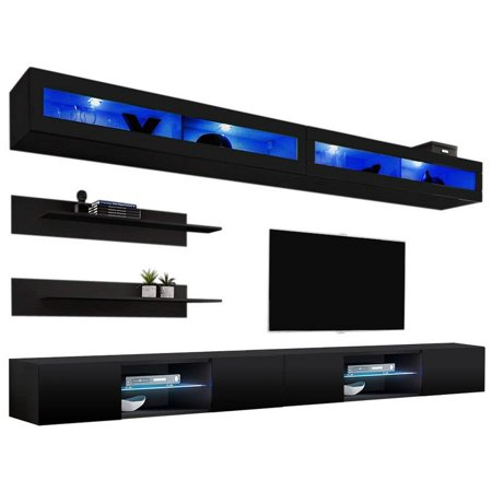 Fly I2 33TV Wall Mounted Floating Modern Entertainment Center