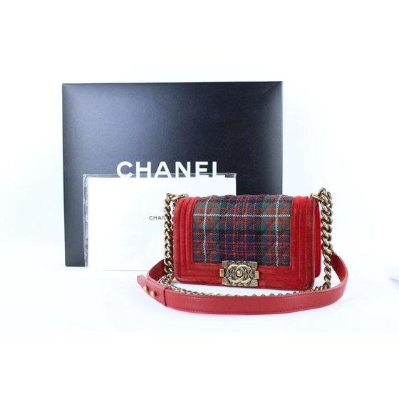 ace7f08e3044 CHANEL - Chanel Velvet X Tweed Quilted Plaid Paris-edinburgh Boy ...