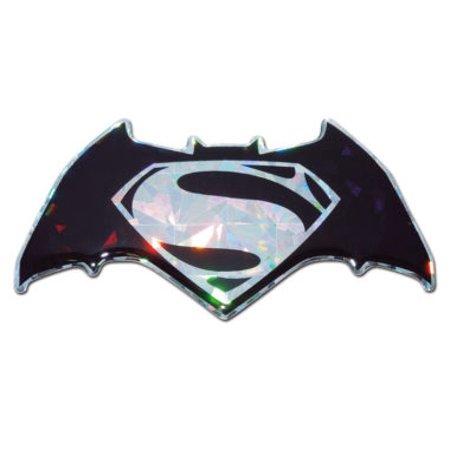 Batman v Superman Silver 3D Reflective Decal - Batman Car Decal