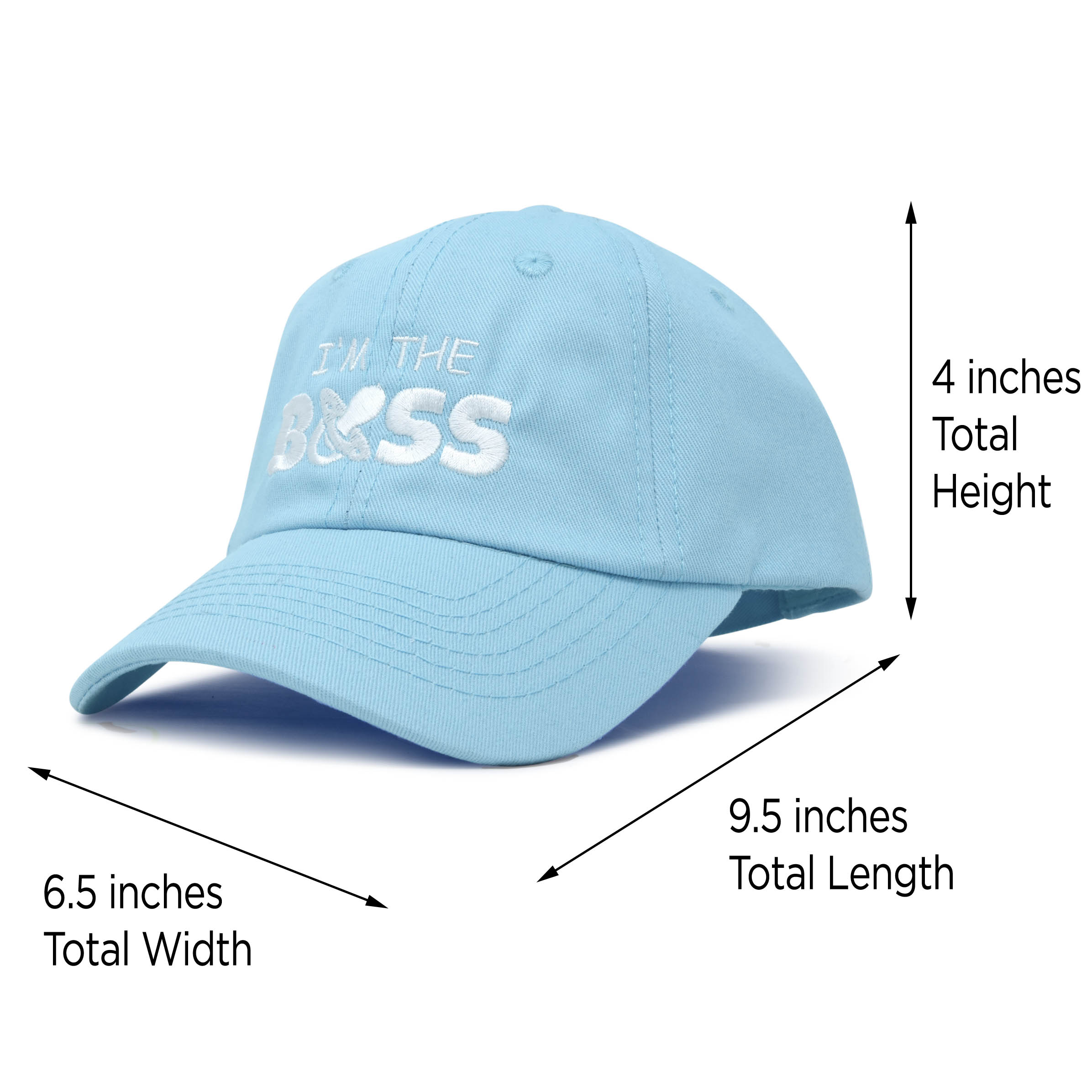 58f5d921 DALIX - DALIX I'm The Boss Baby Hat Infant Baseball Cap for Baby Girls and  Boys in Light Blue - Walmart.com