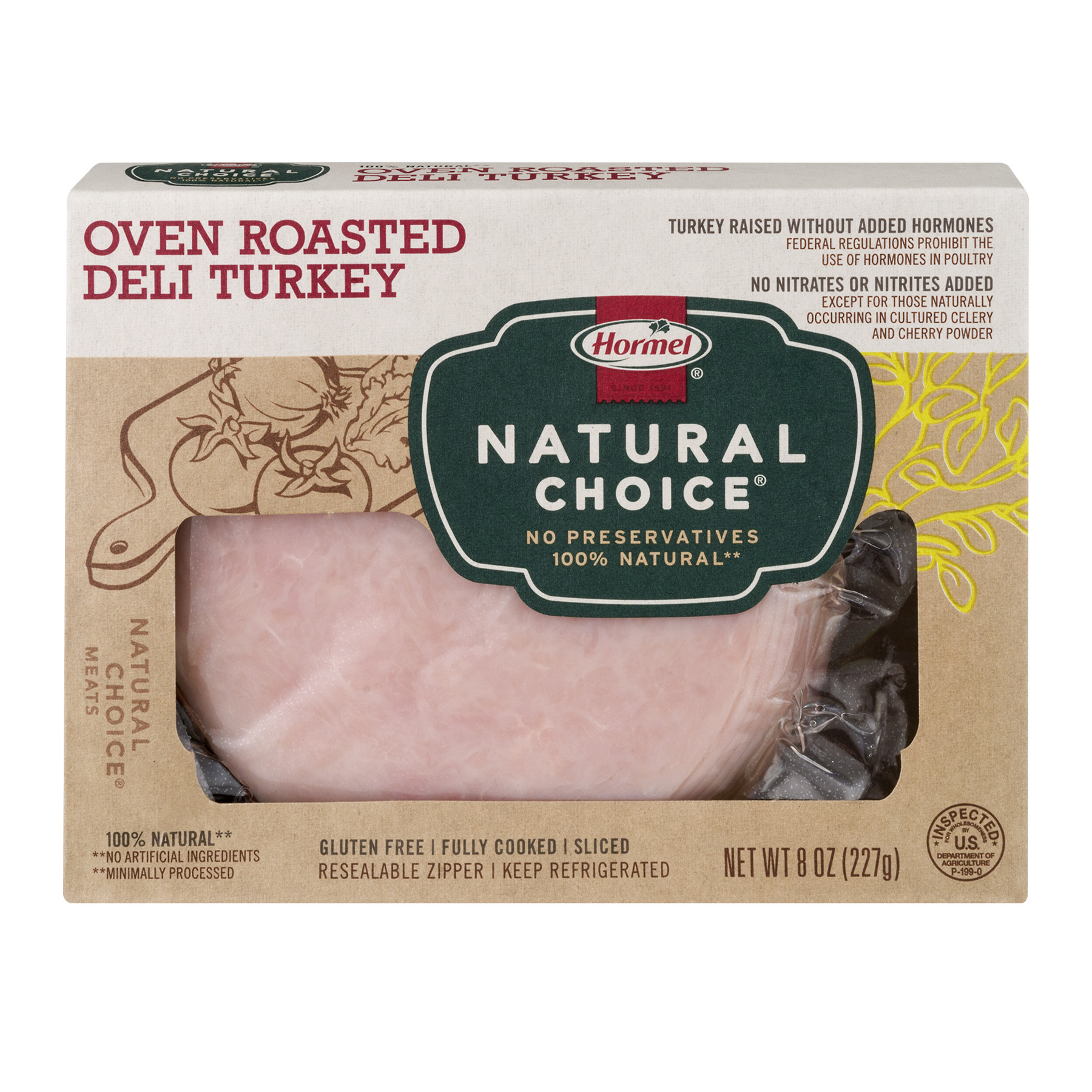 Hormel Natural Choice Oven Roasted Deli Turkey, 8.0 OZ