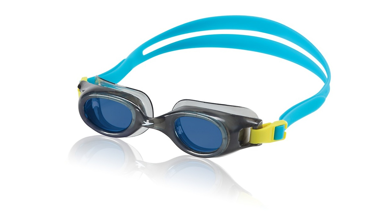 Speedo Jr. Hydrospex Classic Goggle Kids Swim Goggle Grey   Blue by Speedo