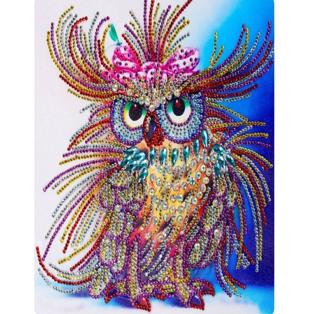 Outtop Special Shaped Diamond Painting DIY 5D Partial Drill Cross Stitch Kits Crystal R