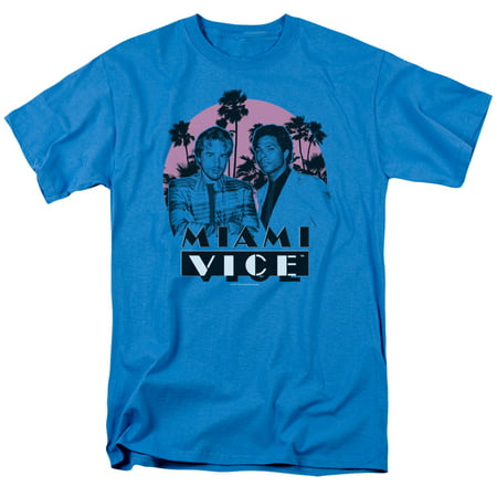 Miami Vice Stupid Mens Short Sleeve Shirt (Turquoise, X-Large) - Halloween Stores Miami