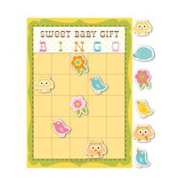 Club Pack of 60 Sweet Baby Happi Tree Baby Shower Bingo Game