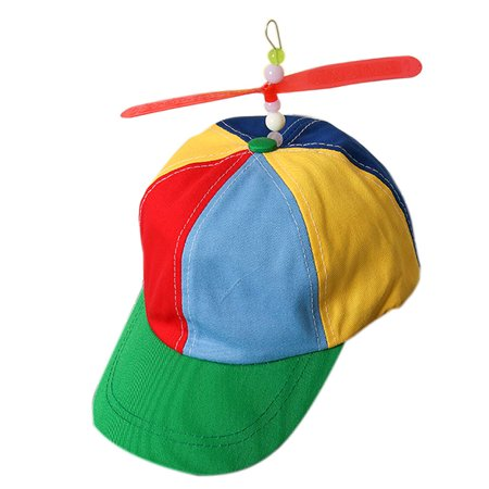 Mosunx Propeller Cap Hat Helicopter Rainbow Tweedle Pride Party Kuso Fancy Dress Nerd