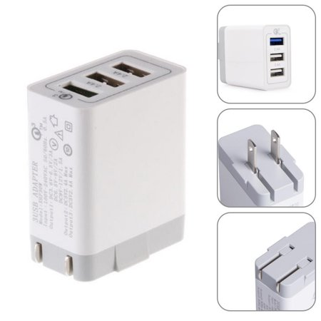 Qualcomm Certified Quick Charge 2 4A 3 Port Usb 3 0 Us Wall Charger For Smartphone