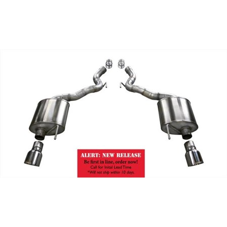 Corsa 15-16 Ford Mustang GT Convertible 5.0L V8 Polished Touring Axle-Back Exhaust Touring Axle Back Exhaust