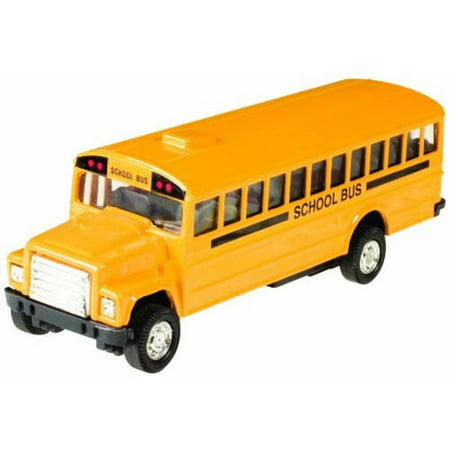 Grin Studios Die Cast Pull Back School Bus