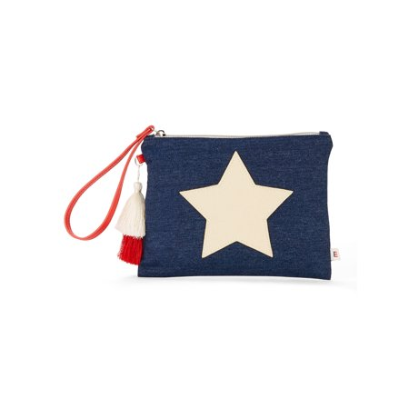 - EV1 from Ellen Degeneres Denim Star Pouch Wristlet