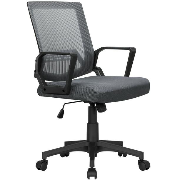 Mid-Back Mesh Office Chair Ergonomic Computer Chair Dark Gray