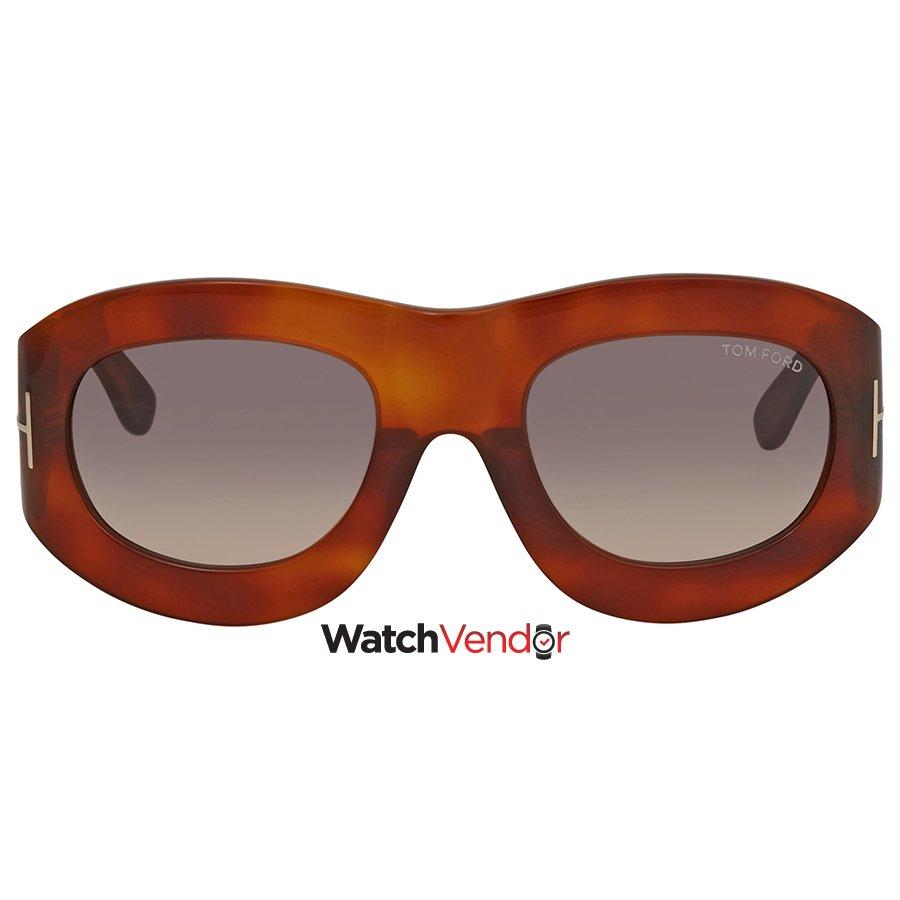 9443c8bbe2 Tom Ford Mila Grey Gradient Oval Sunglasses FT0403 52B