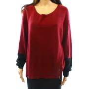 Eileen Fisher NEW Red Women's Size Large L Scoop Neck Sweater $118