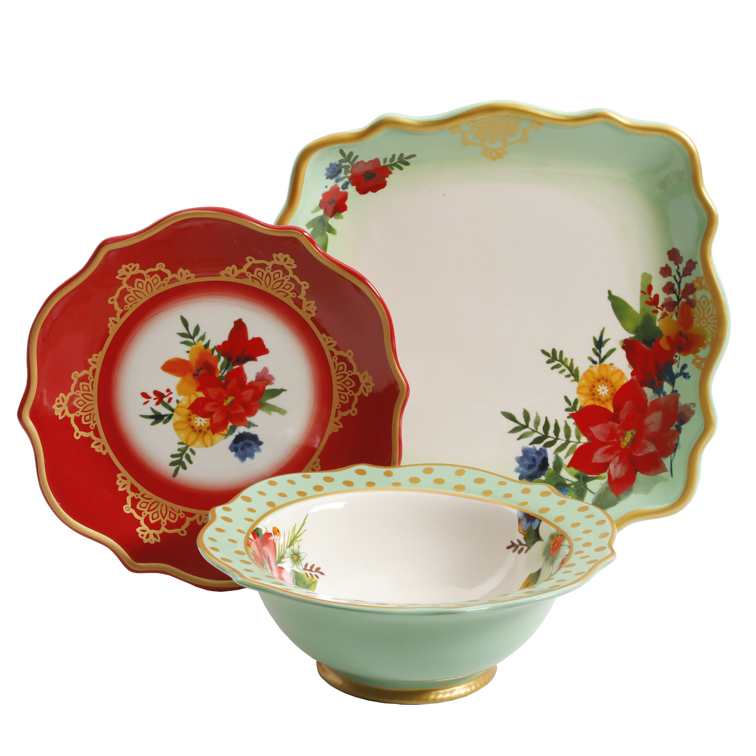 The Pioneer Woman Winter Bouquet 12-Piece Dinnerware Set  sc 1 st  eBay & The Pioneer Woman Winter Bouquet 12-Piece Dinnerware Set Dishes ...