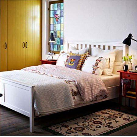 Ikea Hemnes Queen size Bed Frame White Wood - Homecoming Queen Poster Ideas