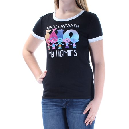 9eafa321d3 Dreamworks - Dreamworks Womens Trollin  With My Homies Graphic T-Shirt -  Walmart.com