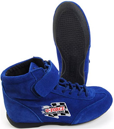 G-Force 0235115BU RaceGrip Blue Size-115 Mid-Top Racing Shoes