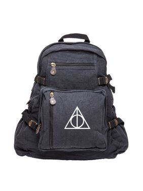 6c09ad473803 Product Image Harry Potter Deathly Hallows Symbol Military Backpack Durable  School Book Bag. Grab A Smile