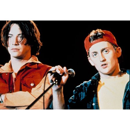 Bill And Teds Bogus Journey Keanu Reeves Alex Winter 1991 Photo Print