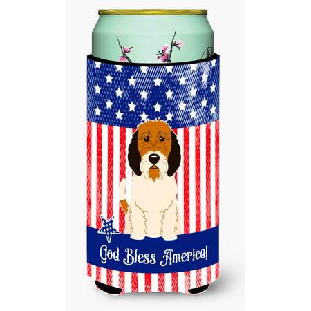 Patriotic USA Petit Basset Griffon Veenden Tall Boy Beverage Insulator Hugger BB3074TBC