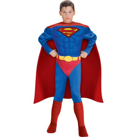 Funny Superman Costume (Deluxe Muscle Chest Superman Child)