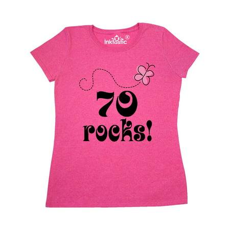 70th Birthday 70 Rocks Gift Women's T-Shirt](70 Clothes)
