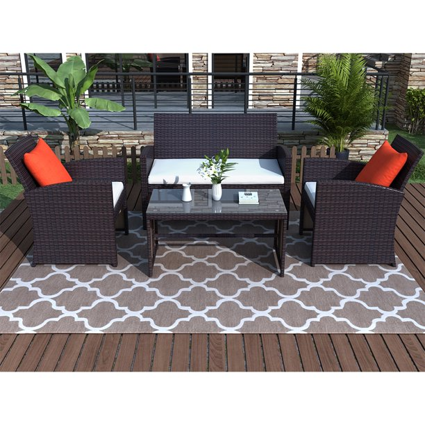 4 Piece Patio Furniture Sets Clearance, Outdoor Seating Furniture Clearance