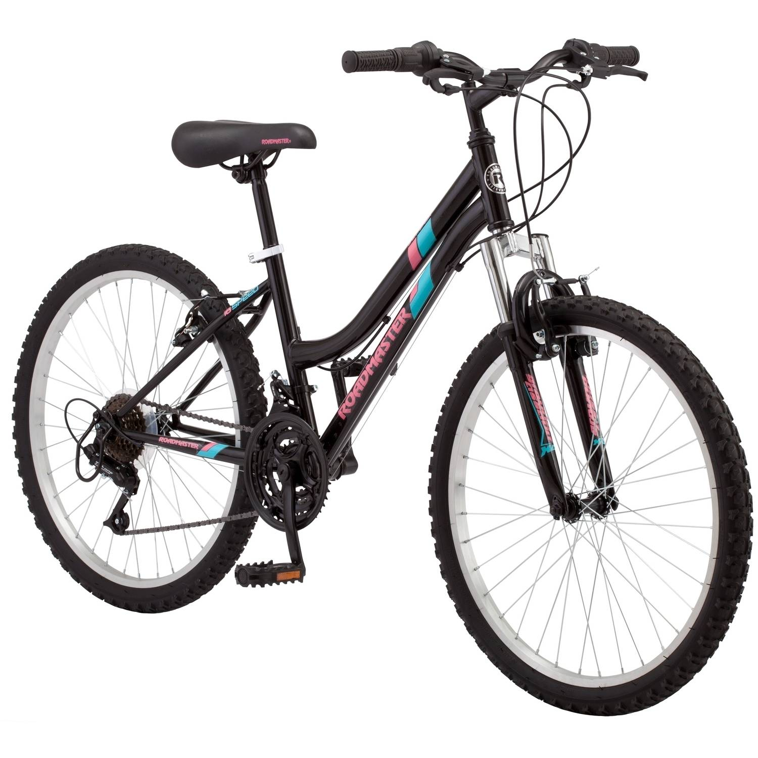 "24"" Roadmaster Granite Peak Girls Mountain Bike, Black"