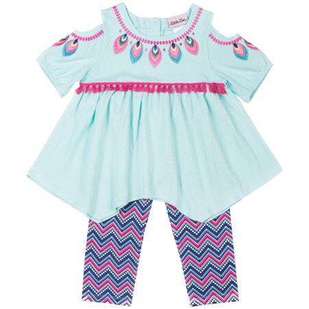 Boutiques For Little Girls (Cold Shoulder Printed Top and Legging, 2-Piece Outfit Set (Little)