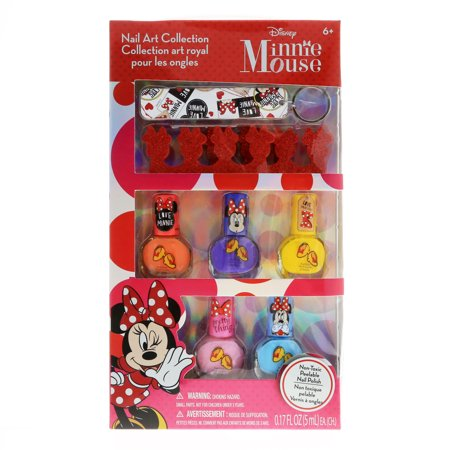 Disney Minnie Mouse Girls Nail Art Collection Nail Polish and Accessories Gift (Minnie Mouse Nails For Halloween)