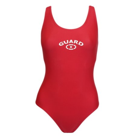 Adoretex Women's Guard Xtra Life Lycra Fit Back One-Piece Swimsuit with Soft Cups in Red, Size (Lycra Swimsuit Fabric)
