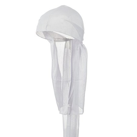 Brown Cap Toe - Wave Cap Tie Down Fashion Durag Cap YOU CHOOSE COLOR Mens Womens (White)