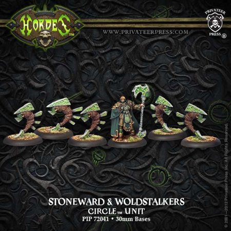Hordes Miniatures (Stoneward and Woldstalkers Unit Circle Hordes Miniature Game Privateer Press )