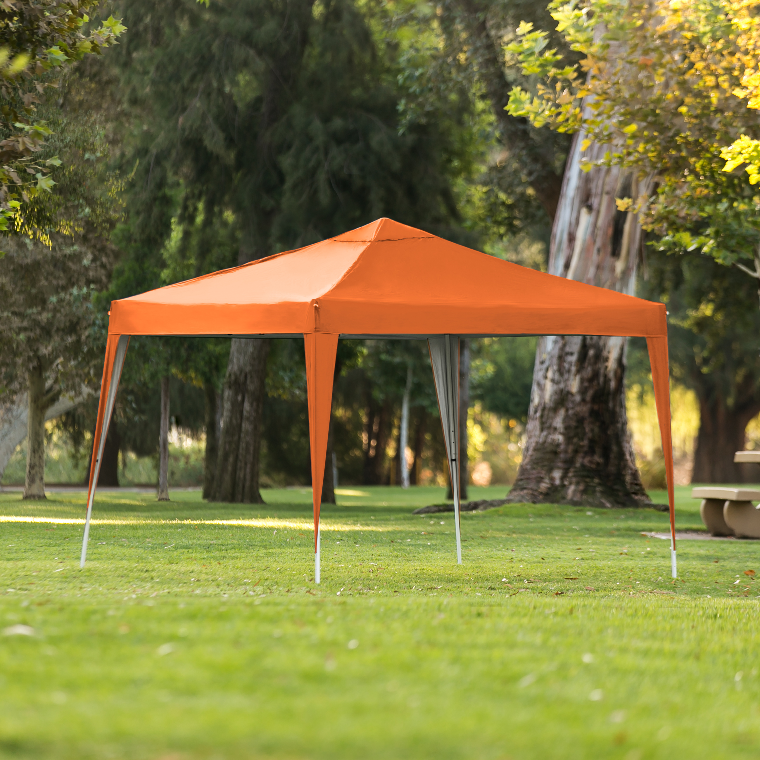 Best Choice Products 10x10ft Outdoor Portable Lightweight Instant Pop Up Gazebo Canopy Tent w/ Carrying Bag - Orange