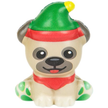 Christmas Winter North Pole Pug Squishie Toy Party Favor - Halloween Pub Party Games