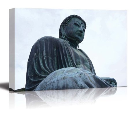 wall26 - Canvas Prints Wall Art - Gautama Buddha Statue in Japan   Modern Wall Decor/Home Decoration Stretched Gallery Canvas Wrap Giclee Print. Ready to Hang - 32