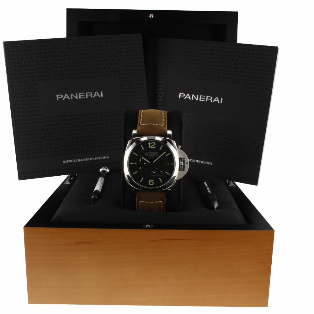 Pre-Owned Panerai Luminor 1950 PAM00537 Steel  Watch (Certified Authentic & Warranty)