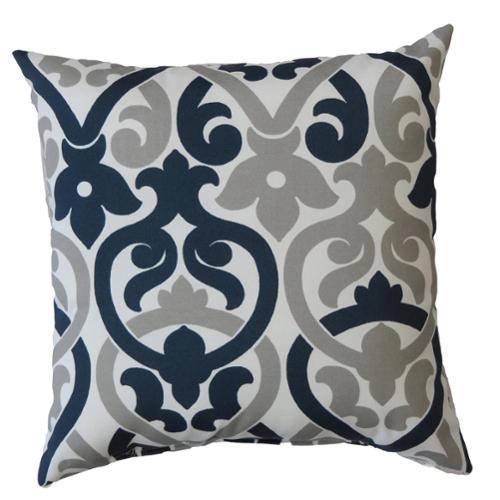 FHT Premiere Home Indoor/Outdoor Alex Oxford Grey 17-inch Pillow