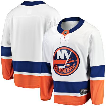New York Islanders Fanatics Branded Breakaway Away Jersey - White