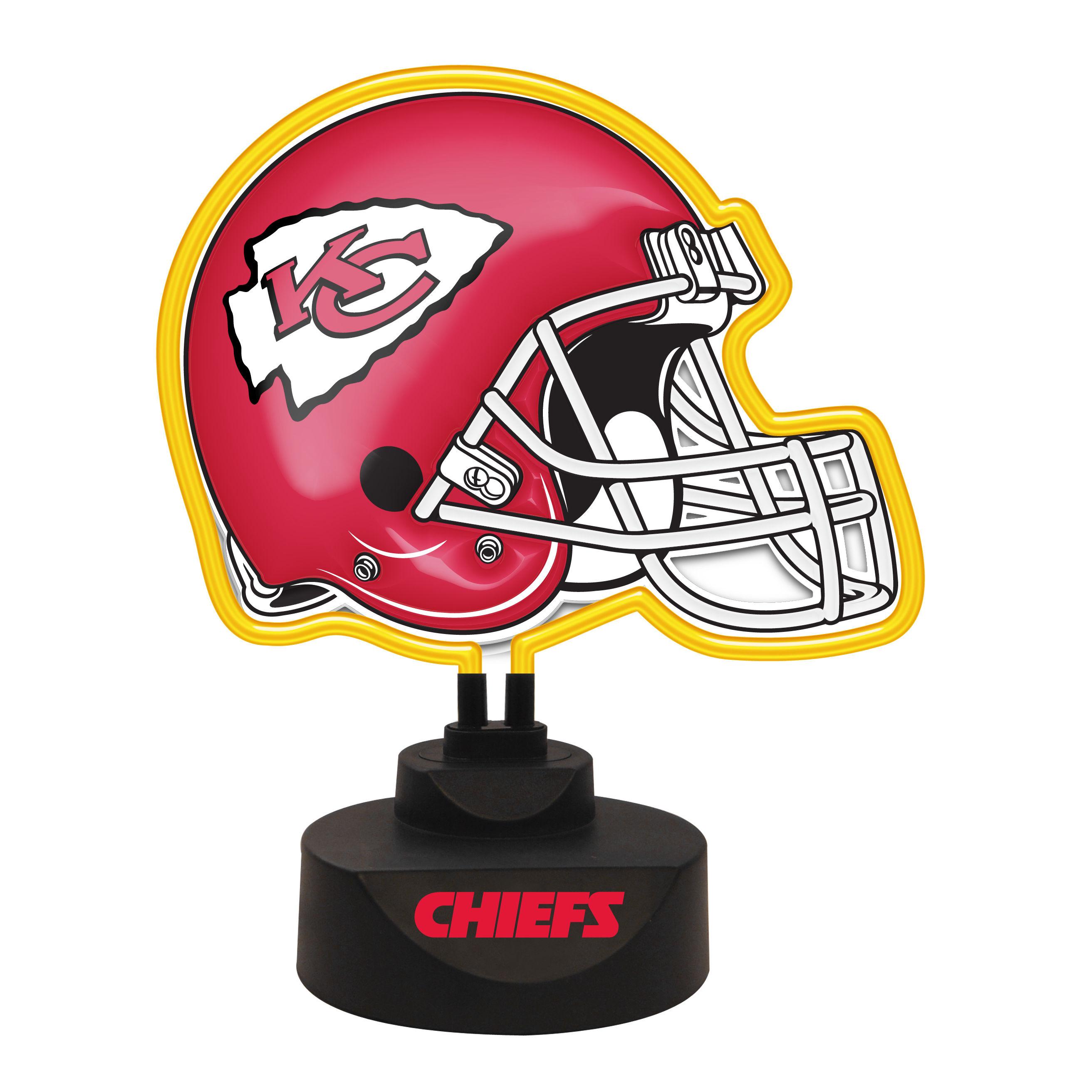 Kansas City Chiefs Neon Helmet Lamp-chiefs