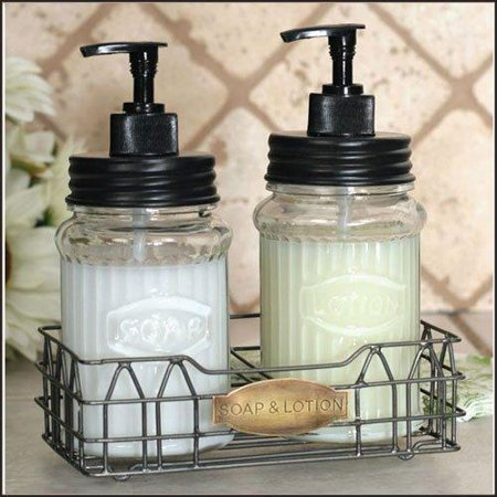 Hoosier Soap And Lotion Dispensers With Wire Caddy Walmartcom