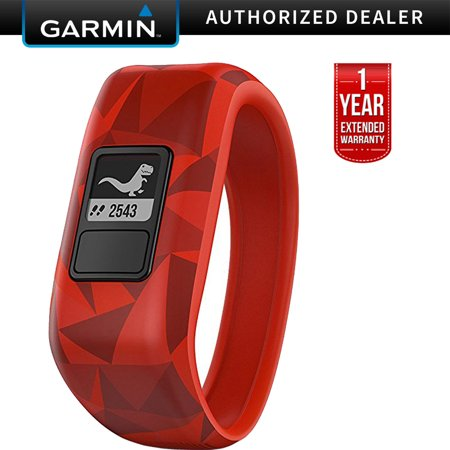 Garmin Vivofit Jr. Activity Tracker for Kids, Regular Fit - Broken Lava (010-01634-00) + 1 Year Extended Warranty
