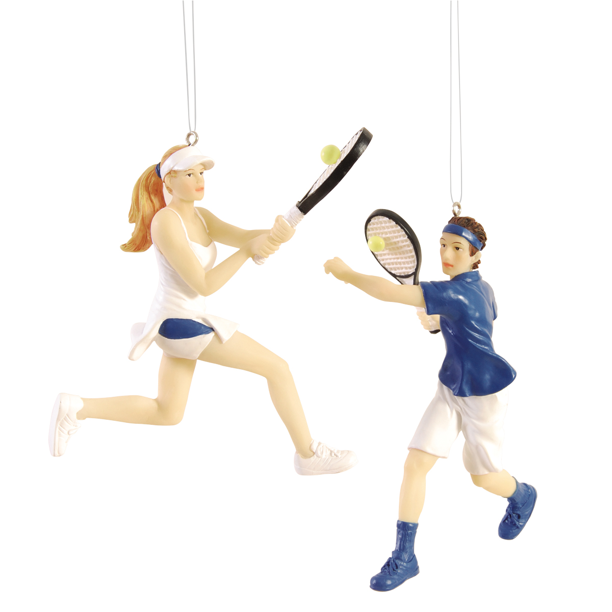 Tennis christmas ornaments - By Gii Tennis Player Christmas Ornaments